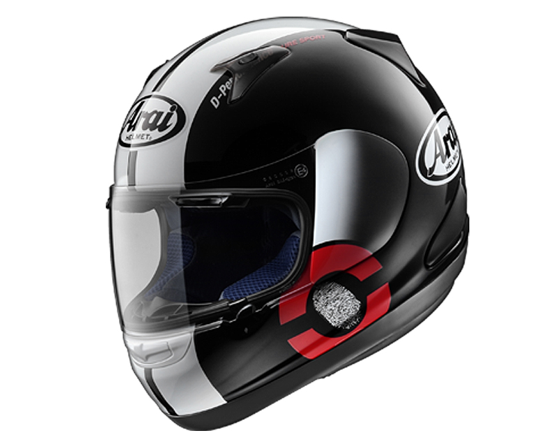 Image of Arai RX-Q DNA Black Motorcycle Helmet XL