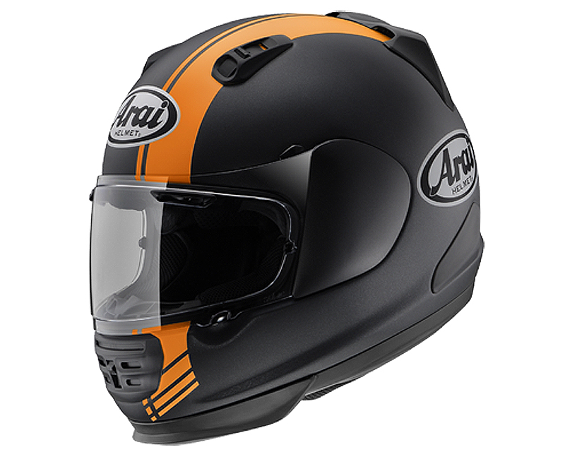 Image of Arai Defiant Base Orange Frost Motorcycle Helmet 2Xl