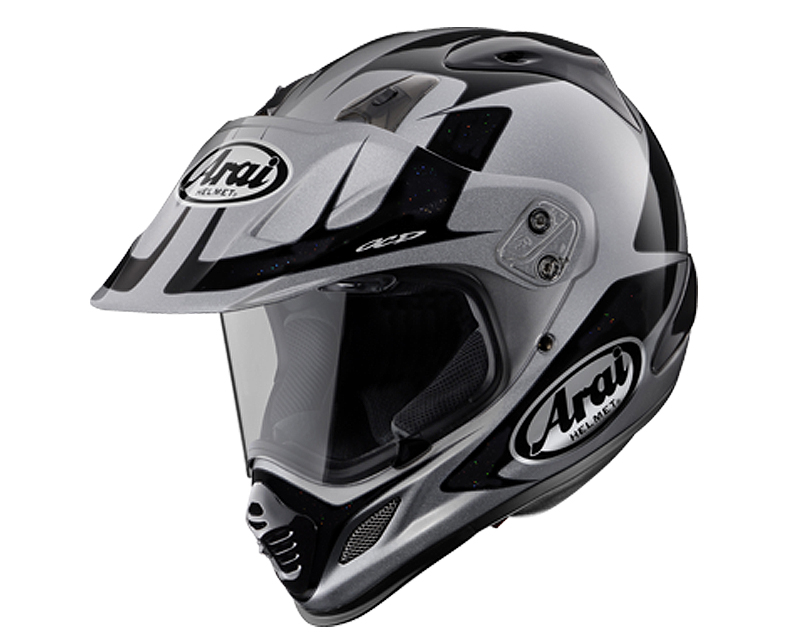 Image of Arai XD-4 Explore Silver Motorcycle Helmet MD