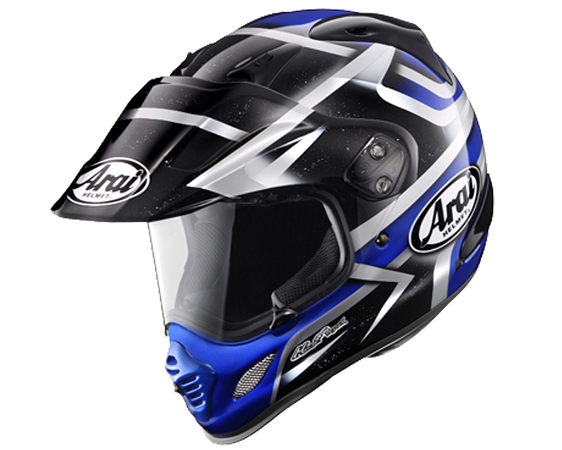 Image of Arai XD-4 Diamante Blue Motorcycle Helmet MD