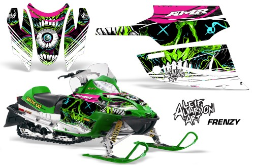 Decal Graphic HOOD Arctic Cat Firecat//Sabercat Sled Snowmobile NOSE Wrap REAP G