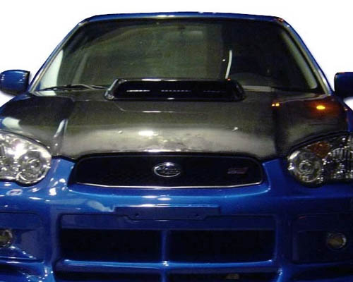 Advan Carbon STi Design Carbon Fiber Hood with Scoop Subaru WRX 2004-2005 - BKSI04-AC977HC