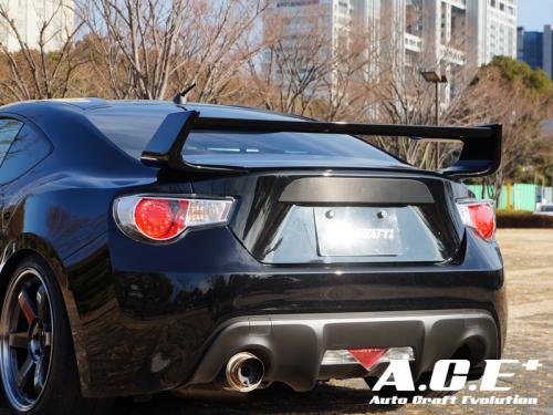 auto craft rear wing rear spoiler 01 type b toyota gt86. Black Bedroom Furniture Sets. Home Design Ideas