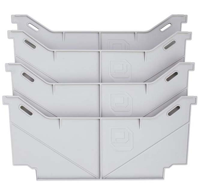 Decked Drawer Dividers Set Of 4 Grey - AD2