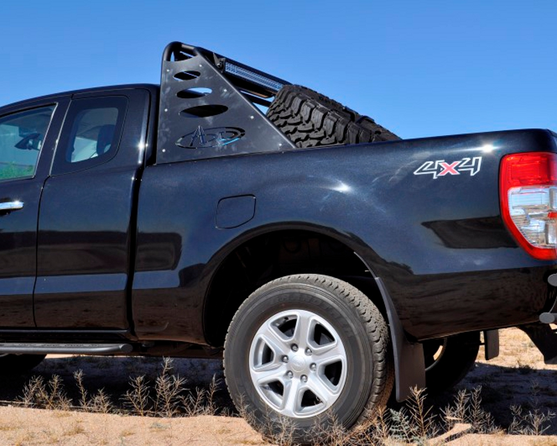 Image of Addictive Desert Designs Chase Rack Lite 40inch Forward Bar 30inch Rear Facing Bar Ford Ranger T6 11-14