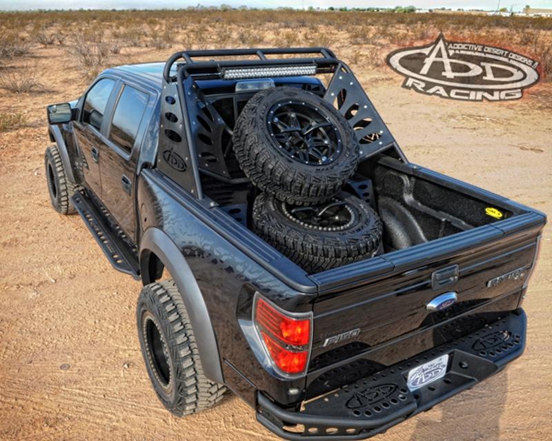 Image of Addictive Desert Designs Chase Rack Lite 50inch Forward Bar 30inch Rear Facing Bar Ford F-150 09-14