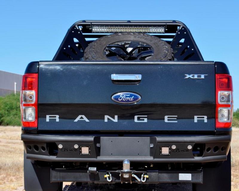 Image of Addictive Desert Designs Dimple R Rear Bumper Set Up For Duallys Ford Ranger T6 11-14
