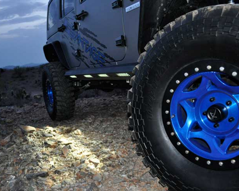 Addictive Desert Designs Stealth Fighter Side Steps For 4Dr With Logo Jeep Wrangler JK 07-14