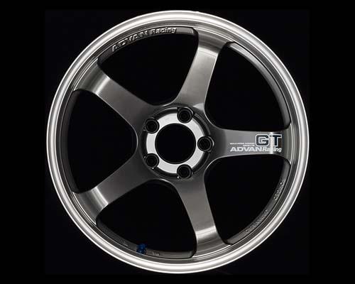 Advan GT Wheel 18X8 5x114.3 +35mm Machining & Racing Hyper Black Wheel - YAQ8I35EHB