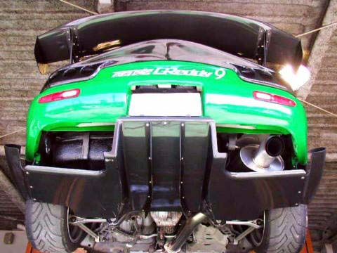 RE Amemiya Carbon Bowtech Generator Rear Diffuser Mazda RX-7 FD3S 93-02 (150746567 REA-D0-022030-156) photo