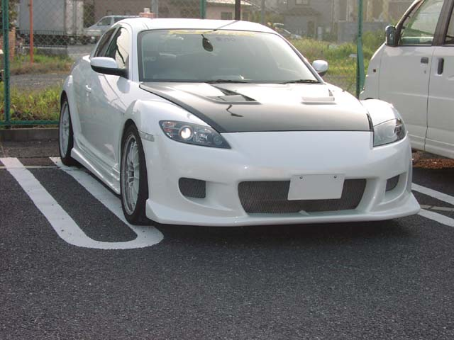 RE Amemiya AD Eight Facer Front Bumper Version 2 Mazda RX-8 03-11 - REA-D0-088030-002