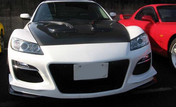 Image of RE Amemiya AD Eight Facer D1 Front Bumper with Fog Lights Mazda RX-8 03-11
