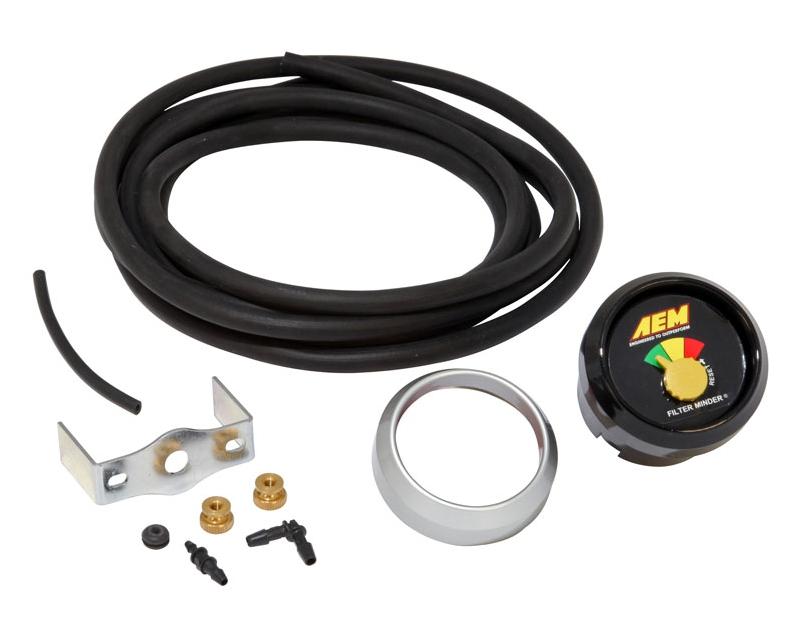 Image of AEM Filter Minder Restriction Gauge 10inch H2O Kit Universal
