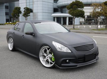 Image of Access Evolution MC after EXS Front Lip Spoiler Carbon Infiniti G37 07-13
