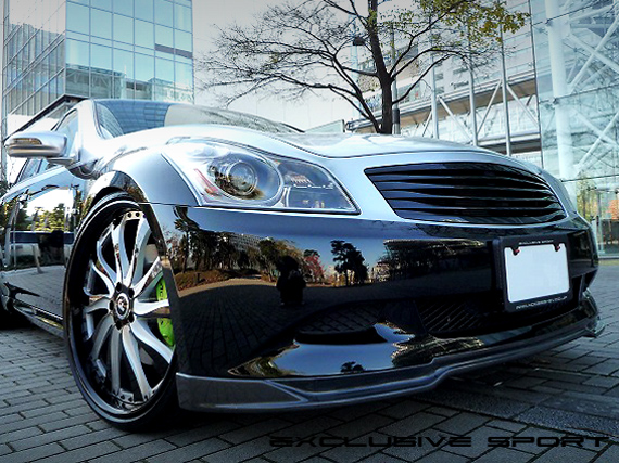 Image of Access Evolution MC before EXS Front Lip Spoiler Carbon Type B Infiniti G37 07-13