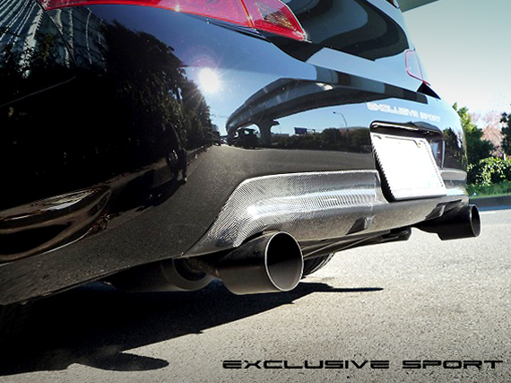 Image of Access Evolution Rear Under Diffuser 3 - Carbon Infiniti G37 07-13
