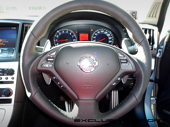 Image of Access Evolution Steering 1 LeatherGunGrip Infiniti G37 07-13