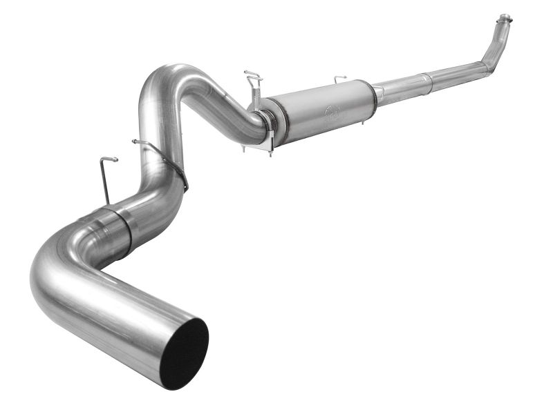 """aFe Large Bore-HD 5"""" 409 Stainless Steel Turbo-Back Exhaust System with Muffler Dodge Diesel Trucks 1998-2002 - 49-42033-1"""