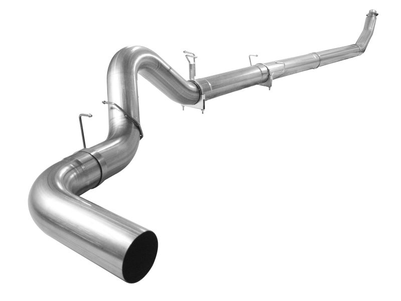 """aFe Large Bore-HD 5"""" 409 Stainless Steel Turbo-Back Exhaust System without Muffler Dodge Diesel Trucks 1998-2002 - 49-42033NM-1"""