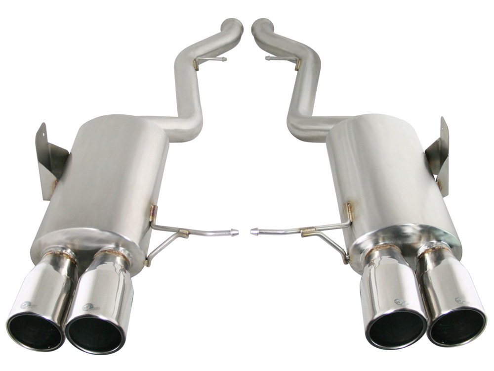 """AFE MACH Force-Xp 2-1/2"""" 304 Stainless Steel Catback Exhaust System BMW M3 (E90) 08-13 V8-4.0L (S65) - 49-36311-P"""
