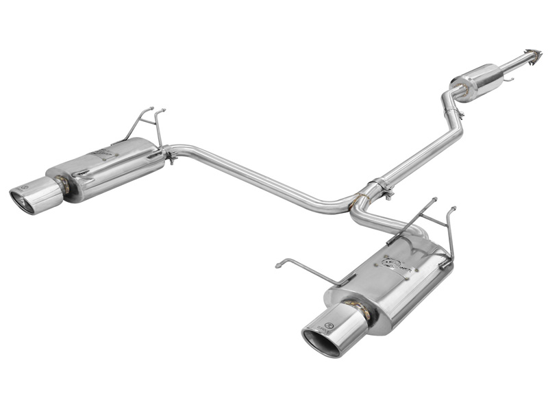 "aFe POWER 49-36612 Takeda 2-1/4"" to 2"" 304 Stainless Steel Catback Exhaust System Honda Accord (Coupe) 08-12 V6-3.5L - 49-36612"