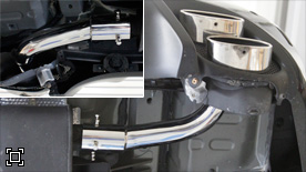 AimGain finishing pipe(for Muffler finisher) Right side only Lexus CT 200h 11-13