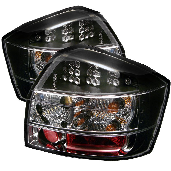 Spyder black LED Tail Lights Audi A4 02-05 - ALT-YD-AA402-LED-BK