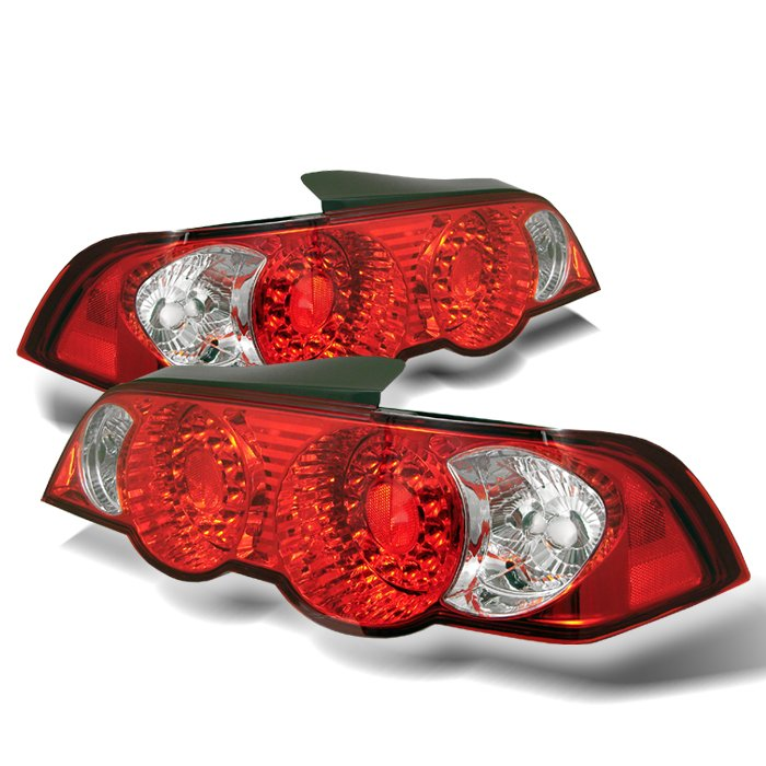 Spyder red clear LED Tail Lights Acura RSX 02-04 - ALT-YD-ARSX02-LED-RC