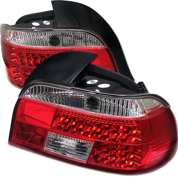 Spyder red clear LED Tail Lights BMW E39 5-Series 97-00 - ALT-YD-BE3997-LED-RC
