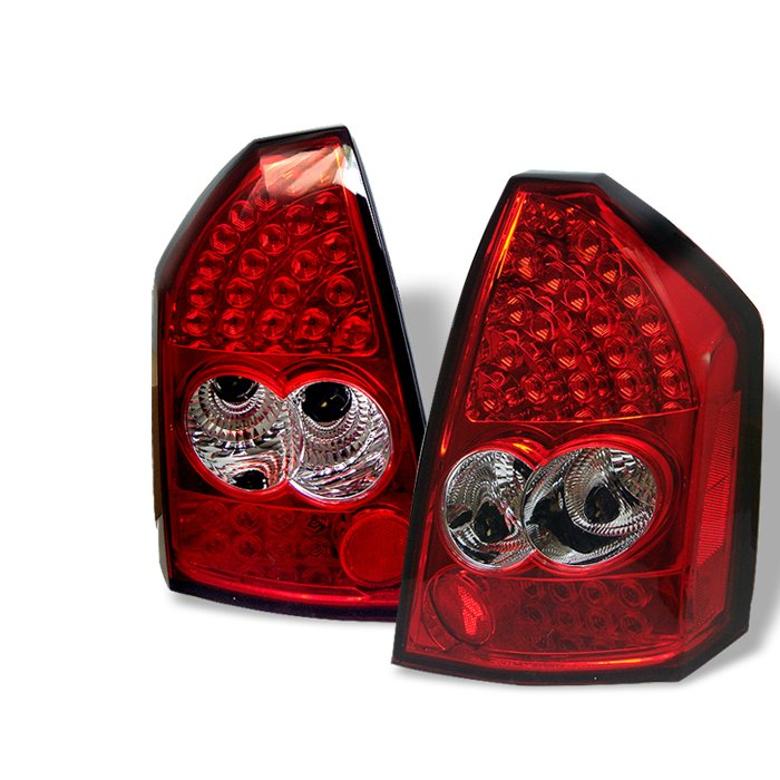 Spyder LED red clear Tail Lights Chrysler 300C 05-07