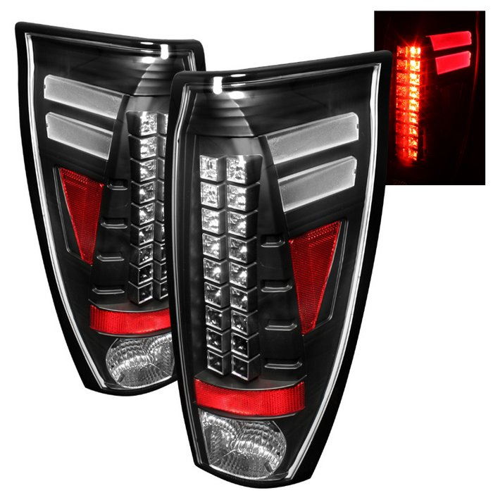 Spyder LED Black Tail Lights Chevrolet Avalanche 02-06 - ALT-YD-CAV02-LED-BK