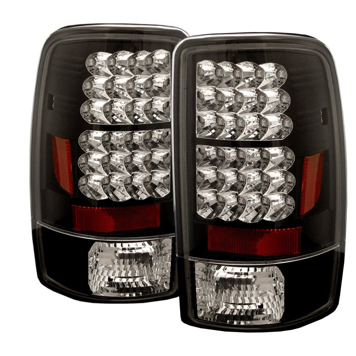 Spyder Lift Gate Style Only LED Black Tail Lights Chevrolet Suburban Tahoe 1500 2500 00-06