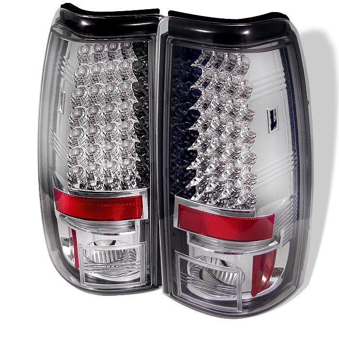 Spyder LED Chrome Tail Lights Chevrolet Silverado & GMC Sierra 1500/2500/3500 03-06 - ALT-YD-CS03-LED-C