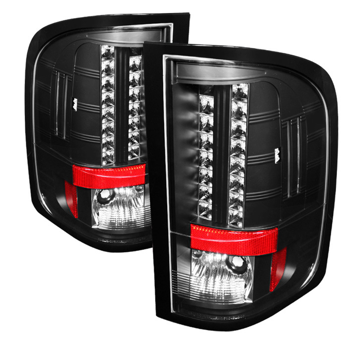 Spyder LED Black Tail Lights Chevrolet Silverado 1500 2500 3500 10-11 - ALT-YD-CS2010-LED-BK