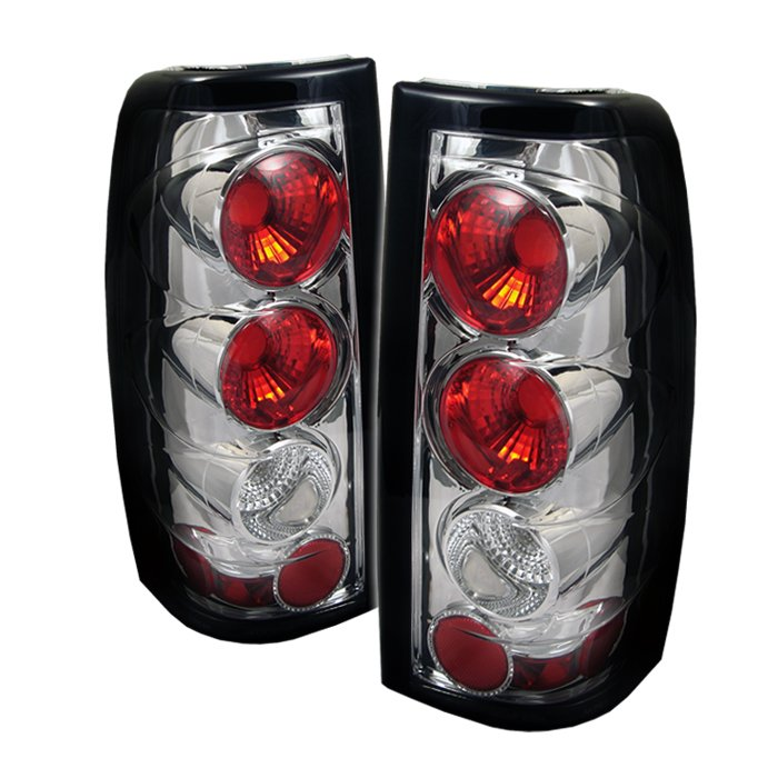 Spyder Altezza Chrome Tail Lights G2 Version Chevrolet Silverado & GMC Sierra 1500/2500/3500 99-02 - ALT-YD-CS99-G2-C