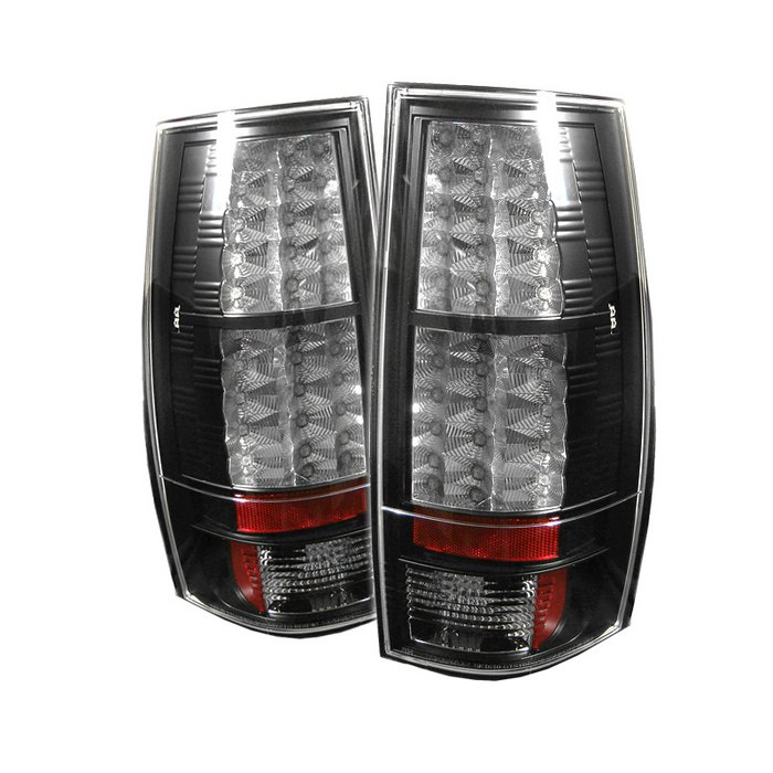 Spyder LED Black Tail Lights Chevrolet Suburban & Chevrolet Tahoe / GMC Yukon & XL 1500 2500 07-10 - ALT-YD-CSUB07-LED-BK