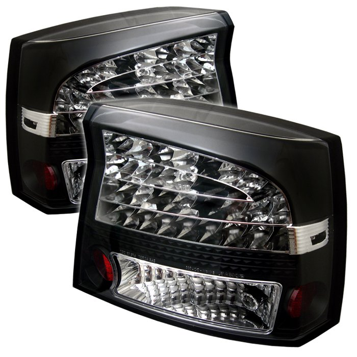 Spyder LED Black Tail Lights Dodge Charger 05-08 - ALT-YD-DCH05-LED-BK