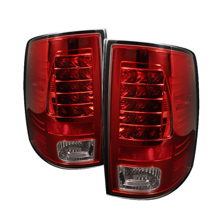 Spyder LED Red/Clear Tail Lights Dodge Ram 1500 09-10 - ALT-YD-DRAM09-LED-RC