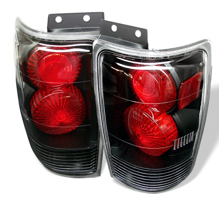 Spyder Altezza Black Tail Lights Ford Expedition 97-02