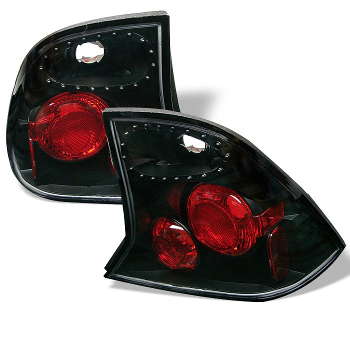 Spyder Altezza Black Tail Lights Ford Focus 4Dr 00-04 - ALT-YD-FF00-4D-BK