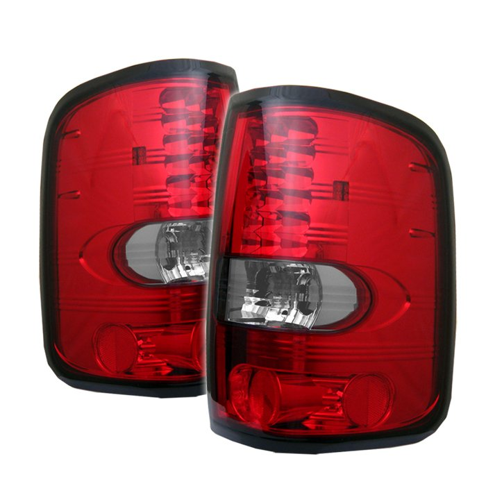 Spyder LED Red/Clear Tail Lights Ford F150 Styleside 04-08 - ALT-YD-FF15004-LED-RC