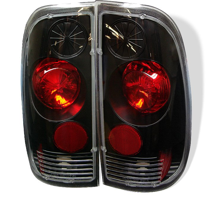 Spyder Altezza Black Tail Lights Ford F150 Styleside 97-03 F250 350 450 550 Super Duty 99-07 - ALT-YD-FF15097-BK