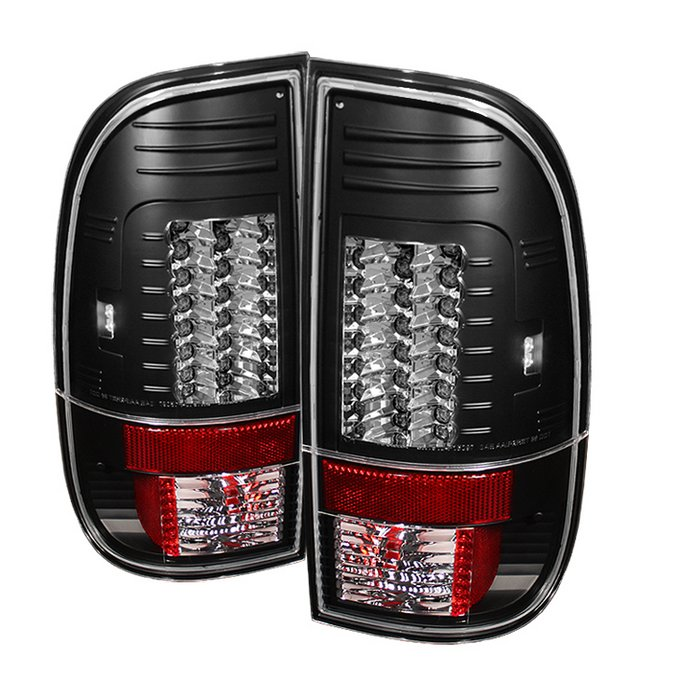 Spyder Version 2 LED Black Tail Lights Ford F150 Styleside 97-03 F250 350 450 550 Super Duty 99-07 - ALT-YD-FF15097-LED-G2-BK