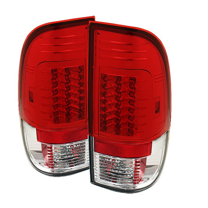 Spyder Version 2 LED Red/Clear Tail Lights Ford F150 Styleside 97-03 F250 350 450 550 Super Duty 99-07 - ALT-YD-FF15097-LED-G2-RC