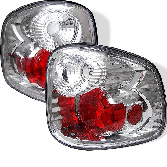 Spyder Altezza Chrome Tail Lights Ford F150 Flareside 97-00 - ALT-YD-FF15097FS-C