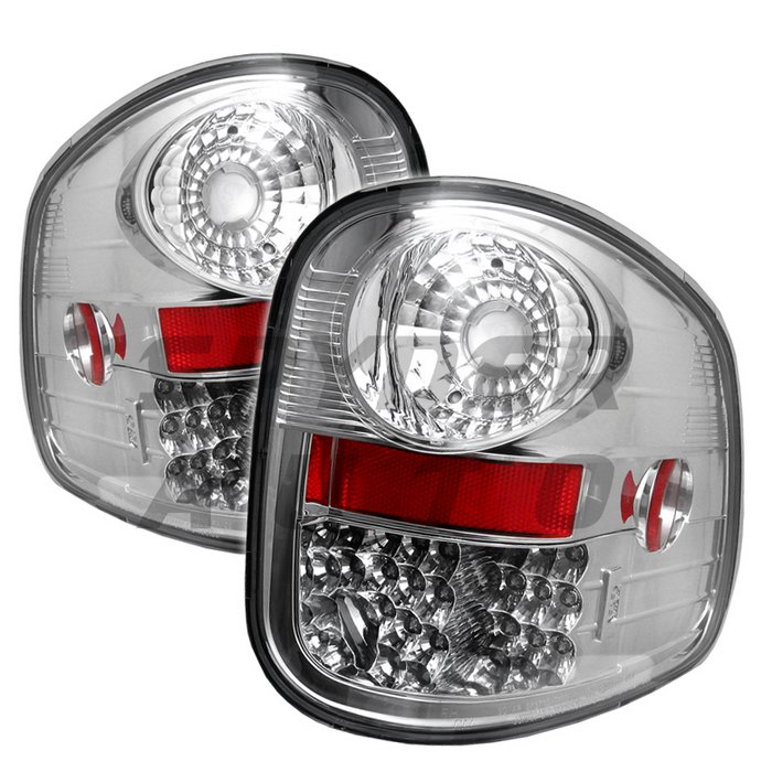 Spyder LED Chrome Tail Lights Ford F150 Flareside 97-03 - ALT-YD-FF15097FS-LED-C