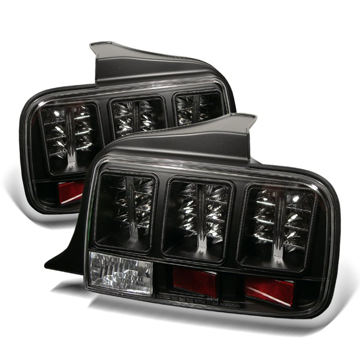 Spyder LED Black Tail Lights Ford Mustang 05-09 - ALT-YD-FM05-LED-BK