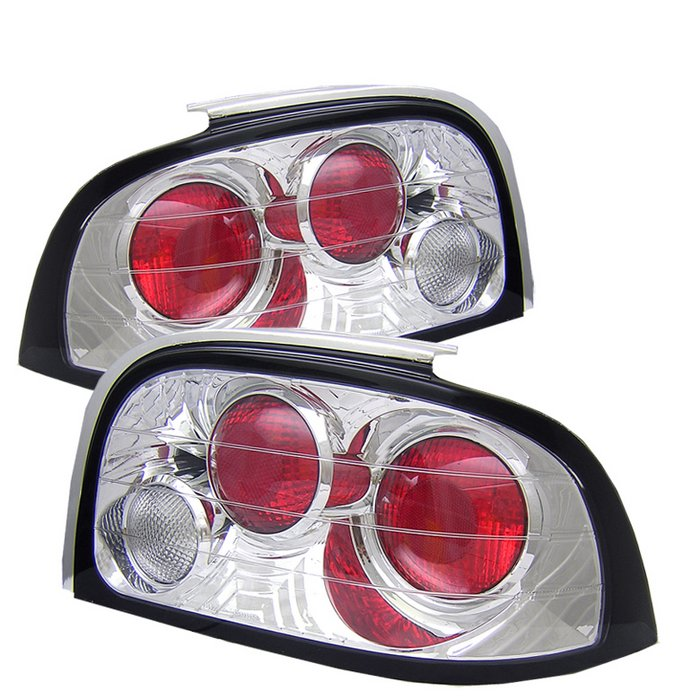 Spyder Altezza Chrome Tail Lights Ford Mustang 94-95