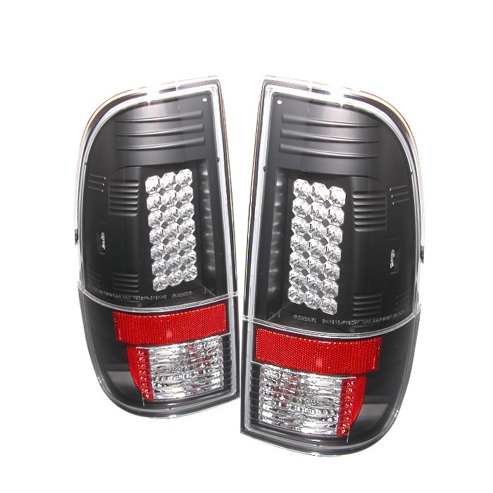 Spyder LED Black Tail Lights Ford F250 350 450 550 Super Duty 08-09
