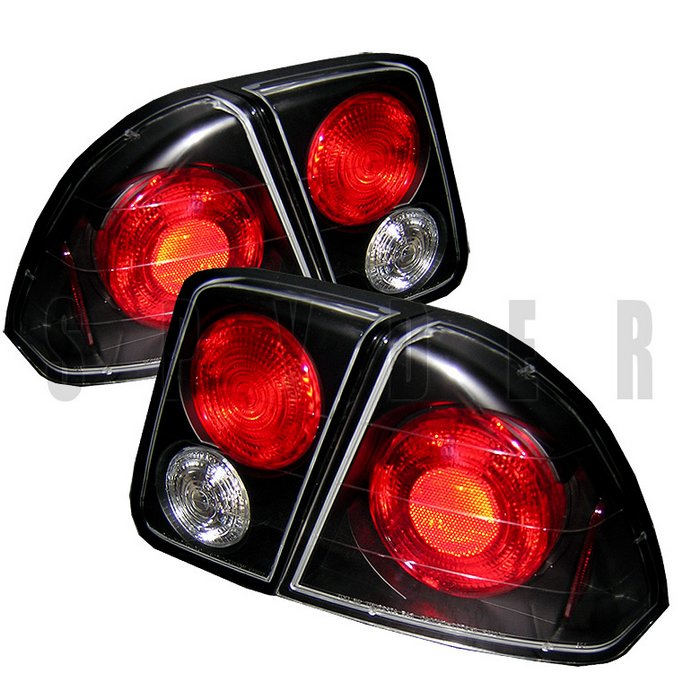 Spyder 4Dr Altezza Black Tail Lights Honda Civic 01-05 - ALT-YD-HC01-4D-BK